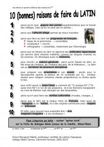 10 (bonnes) raisons de faire du latin